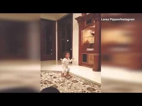 فيديو...طفلة كيم كاردشيان ترقص وتحتفل بعيد ميلادها