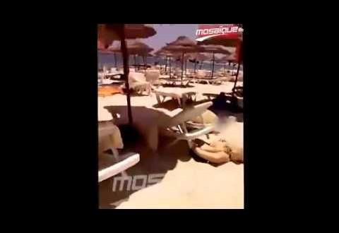 فيديو الهجوم الارهابي بالكلاشنكوف على شاطئ سوسة بتونس