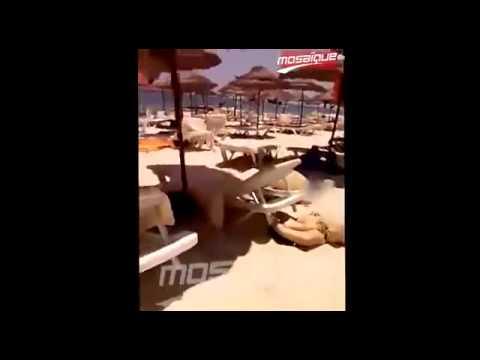 فيديو الهجوم الارهابي على شاطئ سوسة بتونس