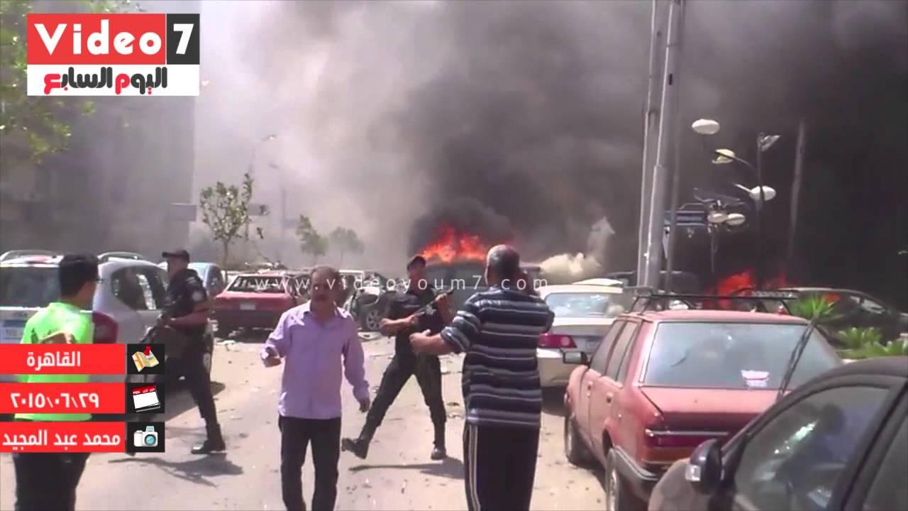 لقطات ترصد إصابة النائب العام عقب استهداف موكبه
