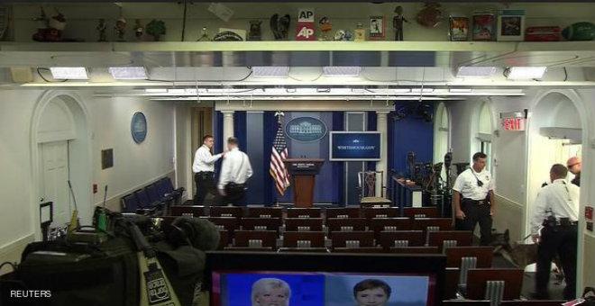 تهديد بوجود قنبلة يخلي قاعة الصحفيين بالبيت الأبيض
