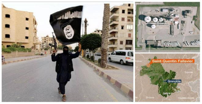 هجوم على مصنع للغاز في فرنسا تحت راية داعش