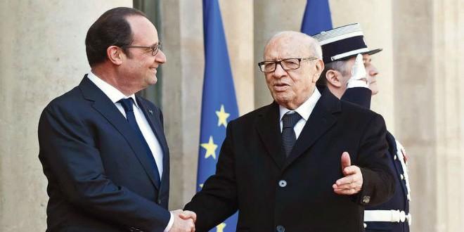 الرئيسان الفرنسي فرانسوا هولاند والتونسي الباجي قايد السبسي