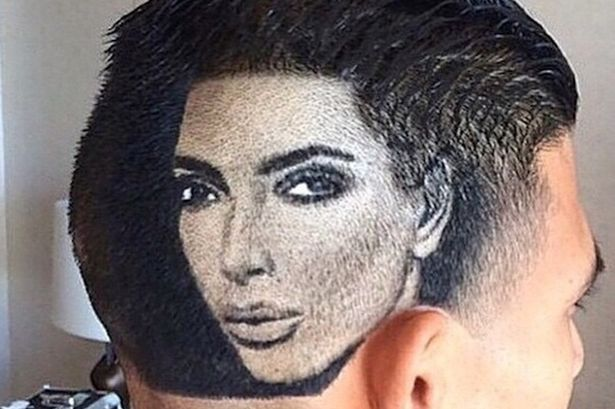 Man-with-Kim-Kardashians-face-shaved-into-his-hair