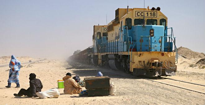 خروج قطار عن سكته يشل حركة القطارات شمال موريتانيا