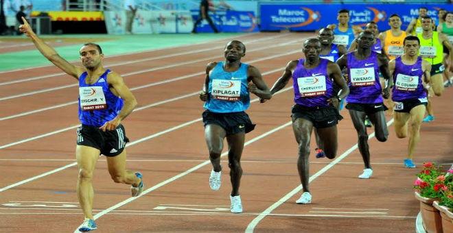 بنصغير يتألق في 1500 متر ويتفوق على الكينيين