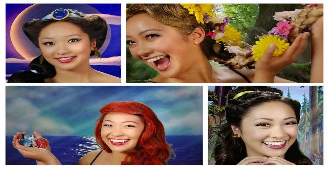 امرأة تتحول إلى 7 من أميرات ديزني في دقائق