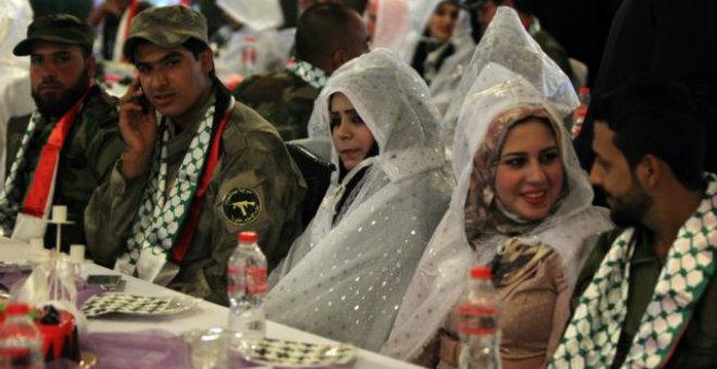 العراق: زفاف جماعي لمقاتلين ضد تنظيم الدولة الإسلامية