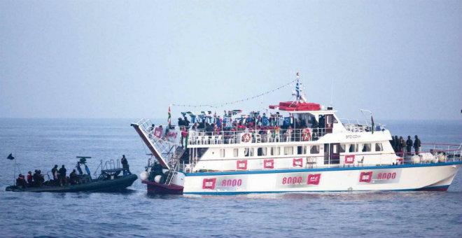 عاجل... جيش الاحتلال يصادر أسطول الحرية 3