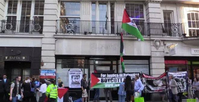 احتجاجات بلندن ضد استضافة مهرجان السينما الإسرائيلية