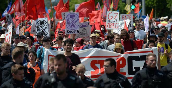 ألمانيا.. آلاف المتظاهرين ضد اجتماع الدول السبع