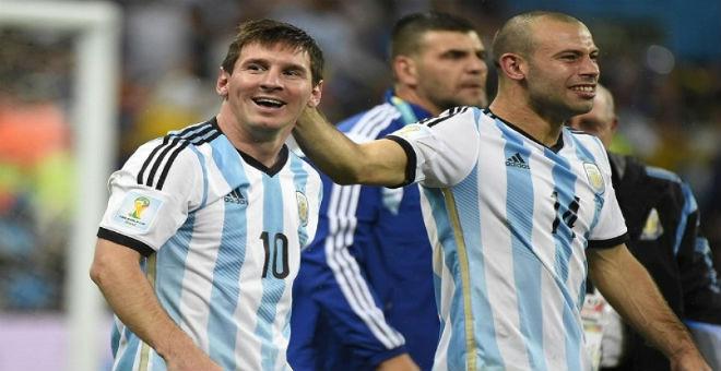 ميسي يحتفل بعيد ميلاده الـ28 مع الأرجنتين