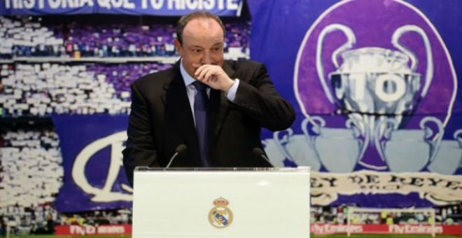 بينيتز يبكي في أول لقاء صحفي له بالريال