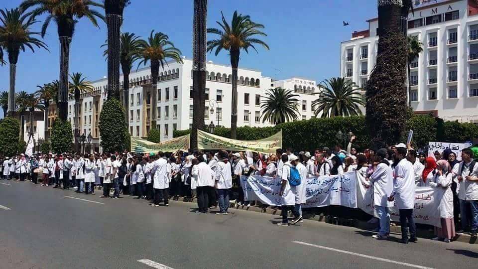 الممرضون ينتفضون ضد الوردي في مسيرة وطنية