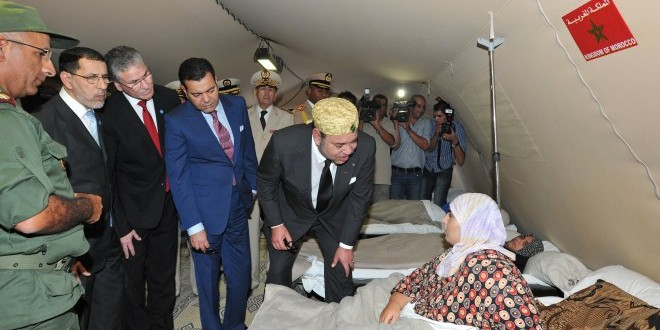 الملك في زيارة سابقة لمخيم الزعتري