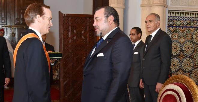 الملك محمد السادس يستقبل سفيري فرنسا واسبانيا بمناسبة انتهاء مهامهما