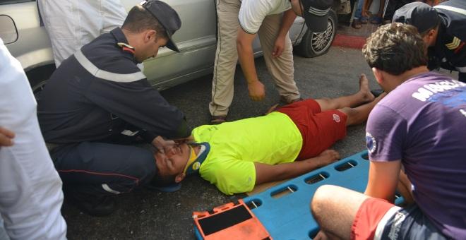 بسبب السرعة..إصابة شاب بجروح خطيرة في حادث مروع