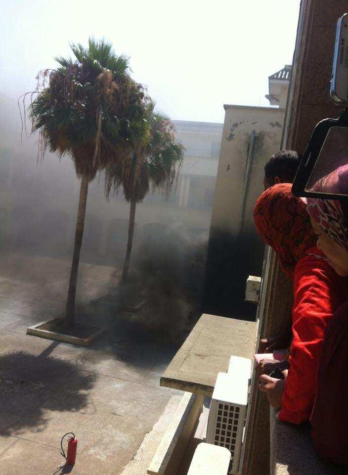 حريق في المحكمة الابتدائية في الدار البيضاء
