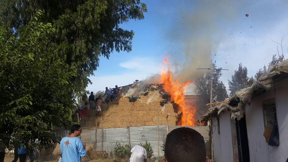 عاجل: حريق في دوار ولاد شكر في القنيطرة