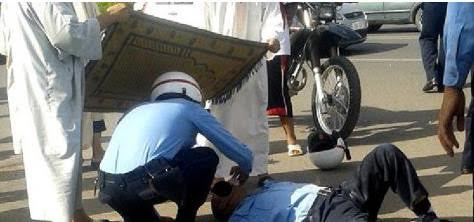 إصابة شرطي مرور  بكسور بعد دهسه في قلعة السراغنة