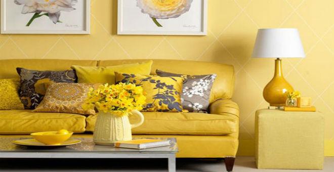 بالصور:عالم الآثاث والديكور يزهو باللون الأصفر