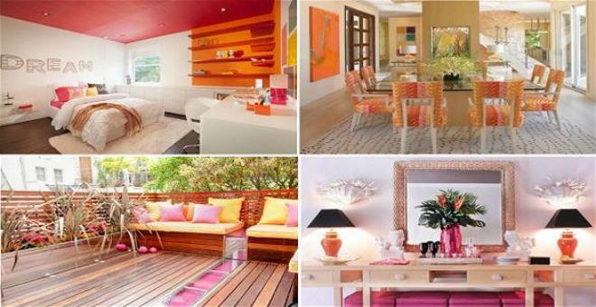 بالصور:استخدمي الوردي والبرتقالي لديكور صيفي