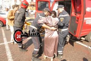 سائق سيارة غيبوبة نقل للمستشفى