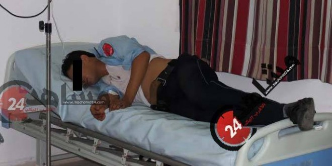 شرطي مصاب بسيف بنسليمان