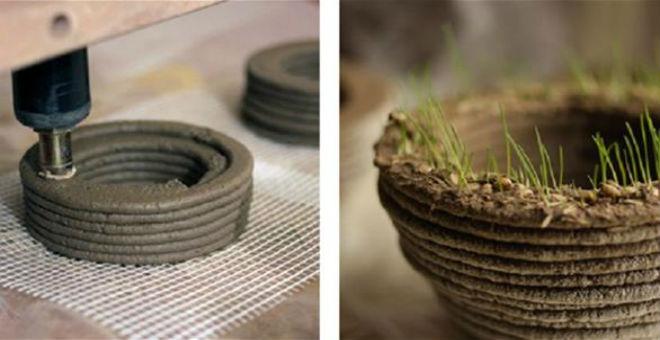 بالصور: طابعة ثلاثية الأبعاد تنتج عشبا قابلا للنمو