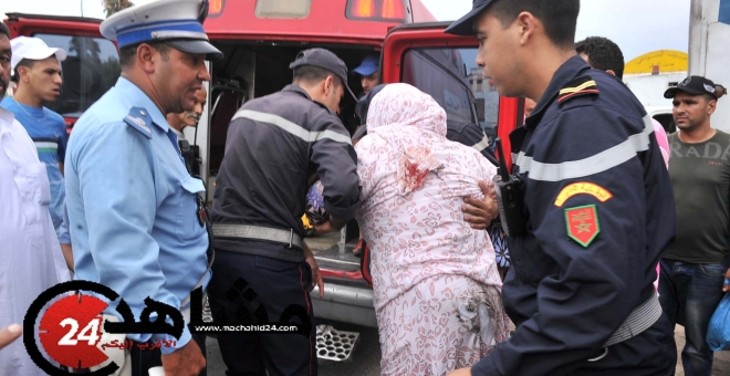 إصابة 5 أشخاص في حادث اقتحام حافلة لحائط خيرية  بالدار البيضاء
