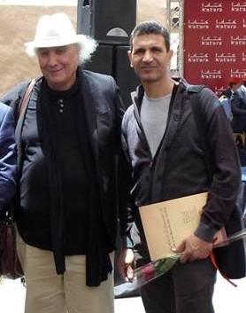 زكرياء أبو مارية مع الروائي الجزائري واسيني الأعرج