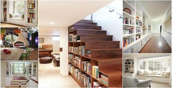 10 أماكن يمكنك تحويلها إلى خزانة للكتب