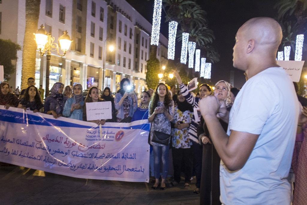 محتجّون يطالبون بإنصاف المعاقة الدمياني