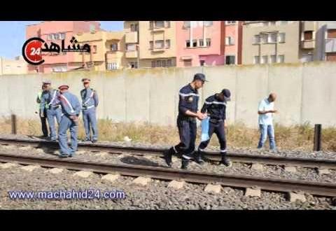 قطار يدهس شاب أثناء عبوره السكة الحديدية في عين حرودة