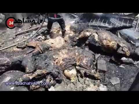 حريق يأتي على سوق كاريان سيدي مومن في الدار البيضاء