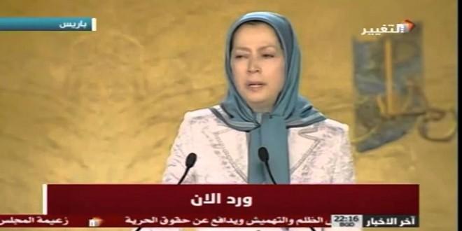 زعيمة المعارضة الإيرانية تتهم نظام الملالي وراء فتن سوريا والعراق