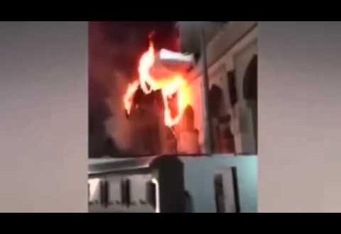 حريق في مكة