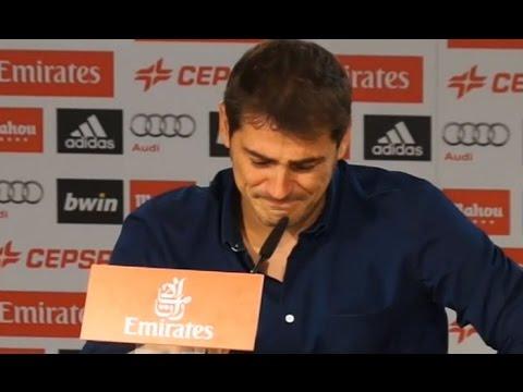 كاسياس يبكي أمام الصحافة الاسبانية