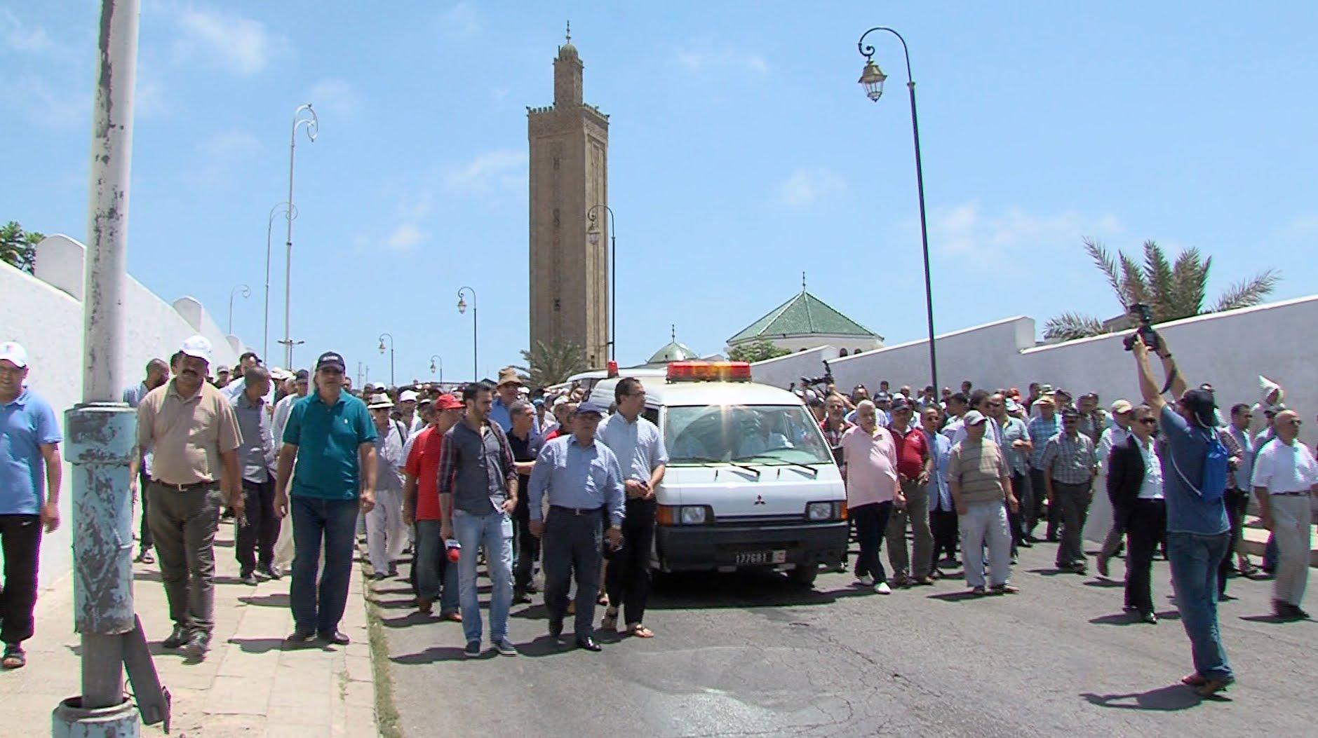 تشييع جثمان الراحل محمد العربي المساري