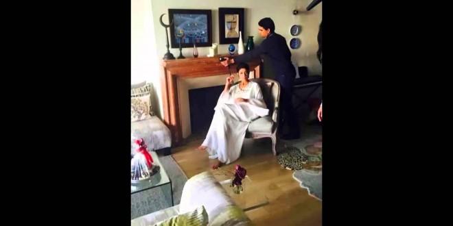 ليلى الحديوي وابنتها في بيت العائلة
