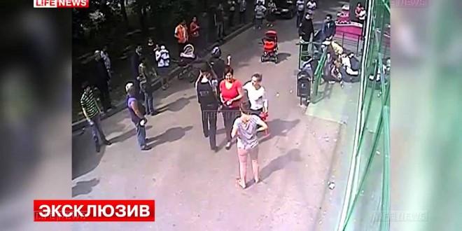 عصابة روسية تقوم بالسرقة وإطلاق الرصاص نهارا
