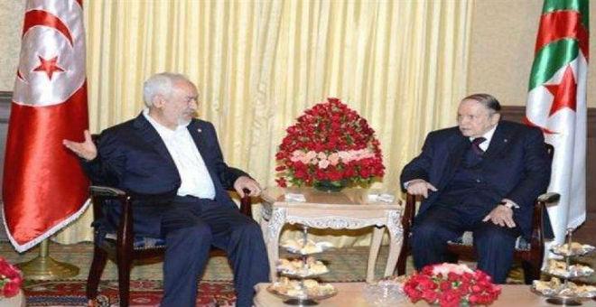 الغنوشي يطمئن بوتفليقة بخصوص التقارب الأمني بين تونس وواشنطن