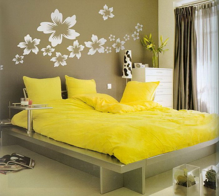 Cool-Yellow-Bedroom-Design-Idea-Decoration