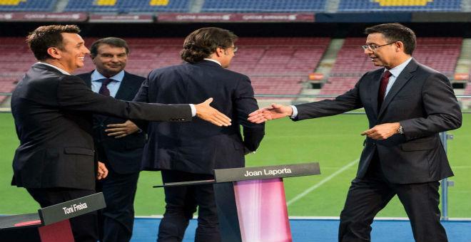 بارتوميو يتفوق على لابورتا في مناظرة برشلونة