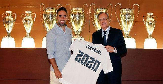 ريال مدريد يمدد عقد الاسباني داني كارفاخال