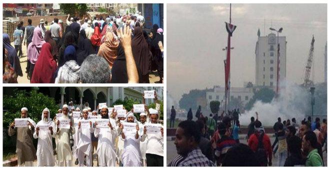 قتيل في مظاهرات تندد بالإنقلاب في مصر