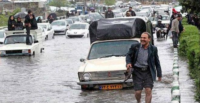 مصرع 11 شخصا في إيران جراء الفيضانات