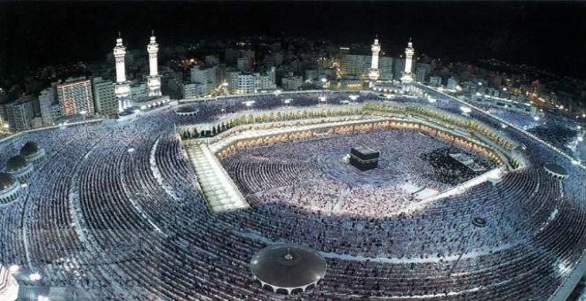 مكة والمدينة أكبر بقعتين مضيئتين على الأرض