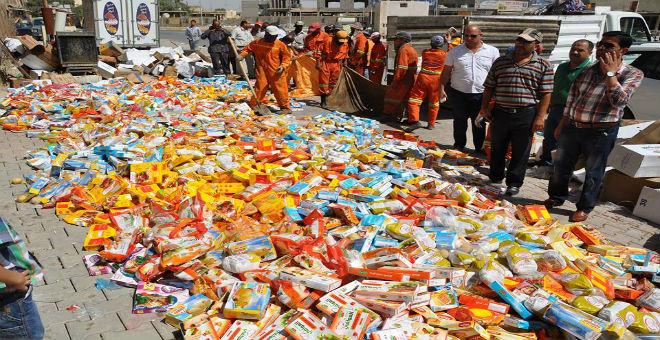 حجز وإتلاف 176 طن من المنتجات غير الصالحة للاستهلاك