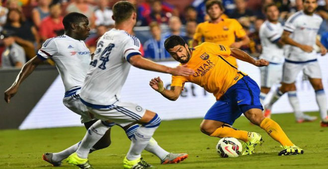 تشلسي يفوز على برشلونة في بطولة كأس الأبطال